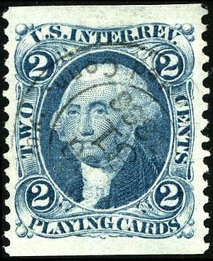 Revenue stamps of the United States - Playing card revenue stamps, often used for the photograph tax