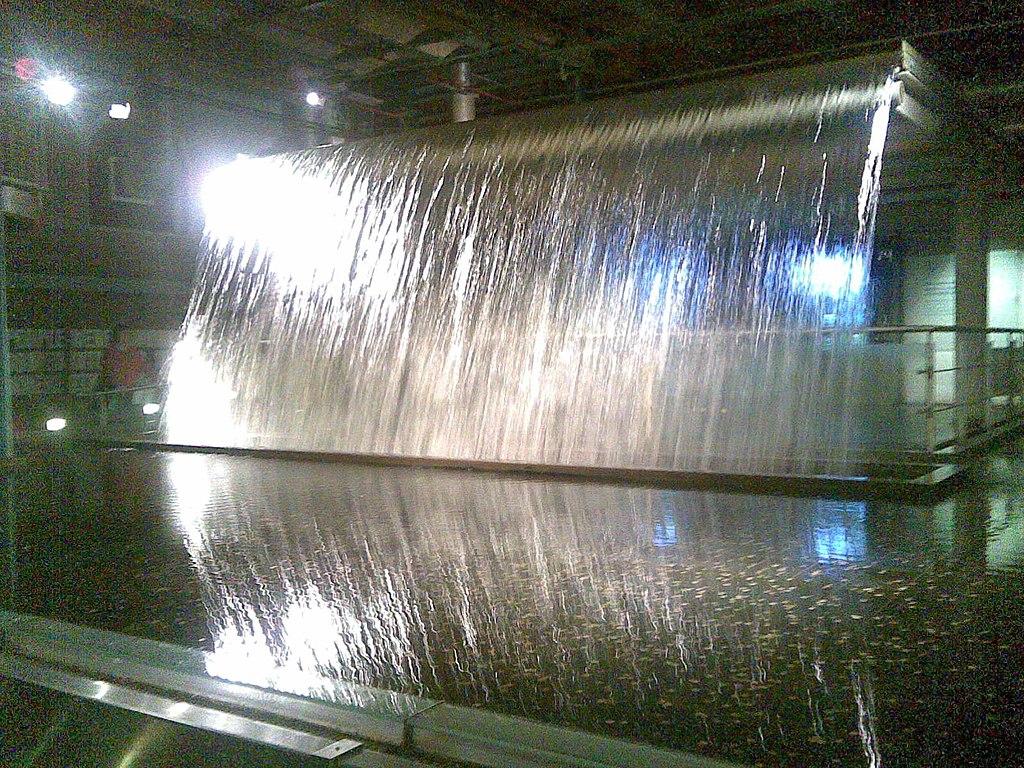 Waterfall inside Guinness Storehouse