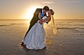 Wedding on the Beach Modern Art Photograph.jpg