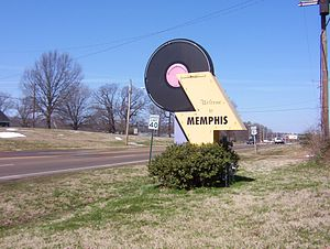 "Culture of Memphis, Tennessee - ""Welcome to Memphis"" sign on U.S. Route 51 (2008)"