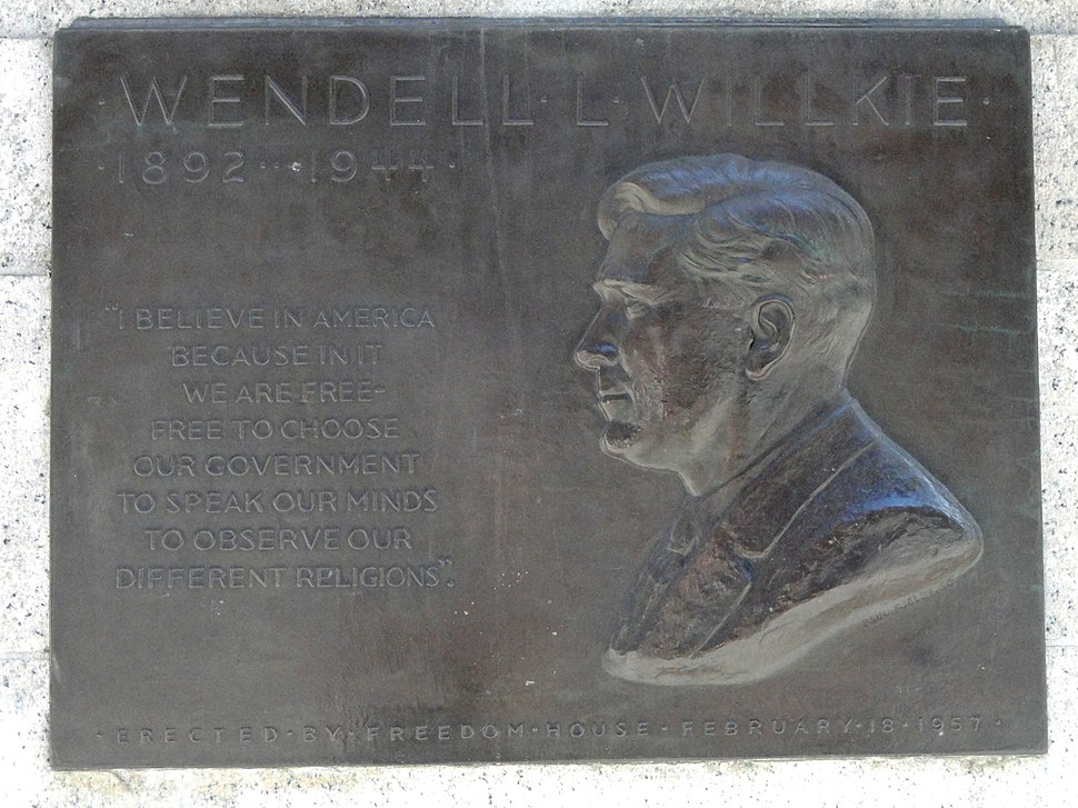 Wendell Willkie Plaque, New York Public Library - DSC06453