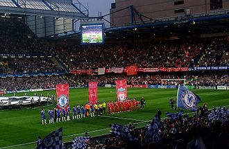 Chelsea F.C. - View from the West Stand of Stamford Bridge during a Champions League game, 2008