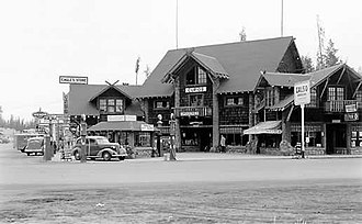 West Yellowstone, Montana - West Yellowstone, Eagle's store, 1939