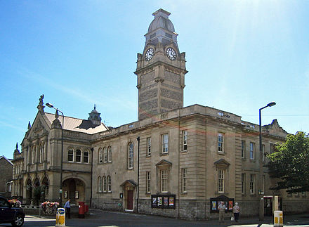 Weston-super-Mare town hall, the administrative headquarters of North Somerset WestonTownHall.jpg