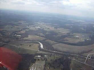 Scott Township, Brown County, Ohio - Along White Oak Creek in central Scott Township