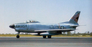Wheelus Air Base - North American F-86D-50-NA Sabre AF Serial No. 52-10054 of the 431st FIS.