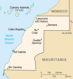 List Of Cities In Western Sahara Simple English Wikipedia The - Western sahara map