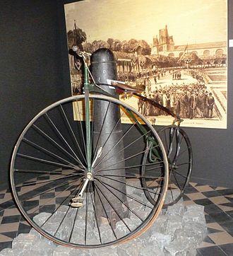 Eugène Meyer (inventor) - Eugène Meyer bicycle circa 1870 on display at the Wielermuseum in Roeselare, Belgium