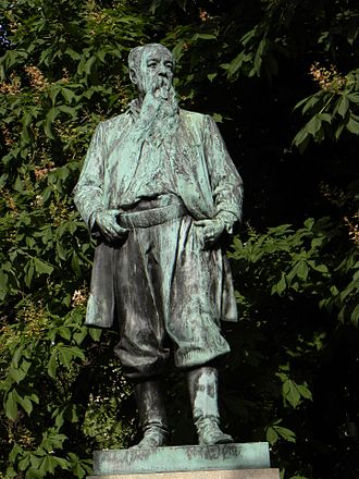 Hans Canon - Statue of Hans Canon by  Rudolf Weyr in the Stadtpark, Vienna (1905)