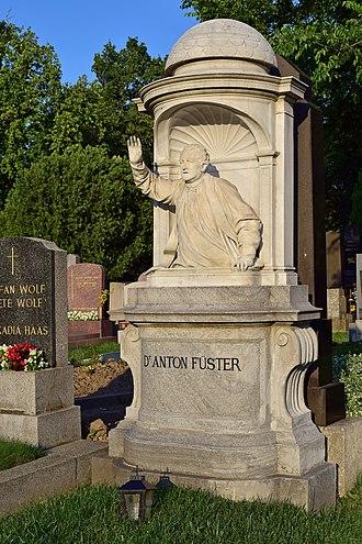Anton Füster - Grave of Anton Füster at the Wiener Zentralfriedhof
