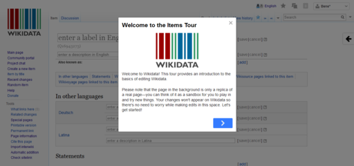Wikidata guided tour intro