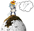 Wikipe-tan on the haystack.png
