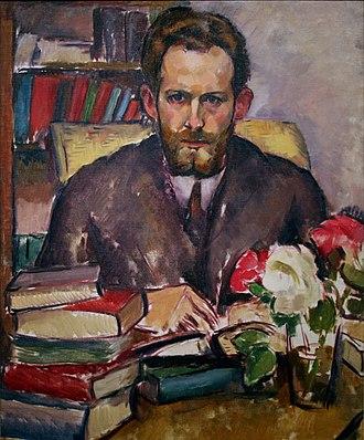 S. S. Van Dine - Portrait of writer Willard Huntington Wright (S. S. Van Dine) by his brother Stanton MacDonald-Wright, 1913–14