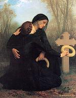 Il giorno dei morti, di Bouguereau, 1859.