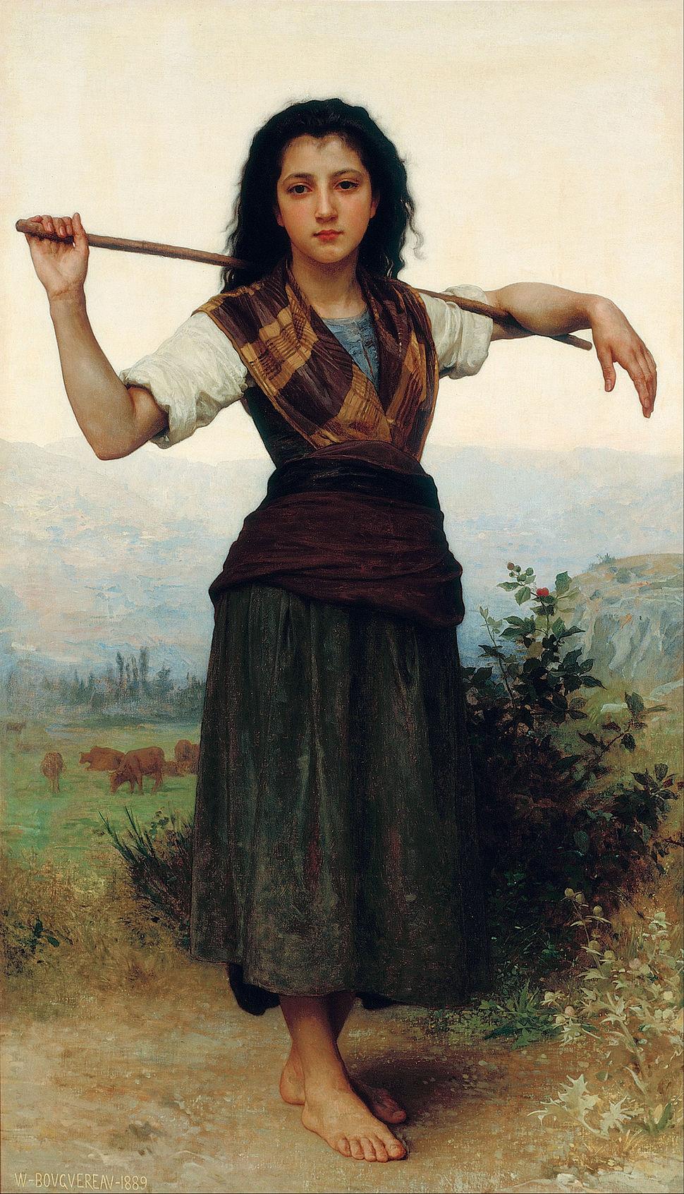 William-Adolphe Bouguereau - The Little Shepherdess - Google Art Project