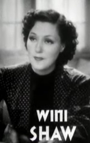 Wini Shaw - Screenshot from the trailer for the film Smart Blonde (1937).