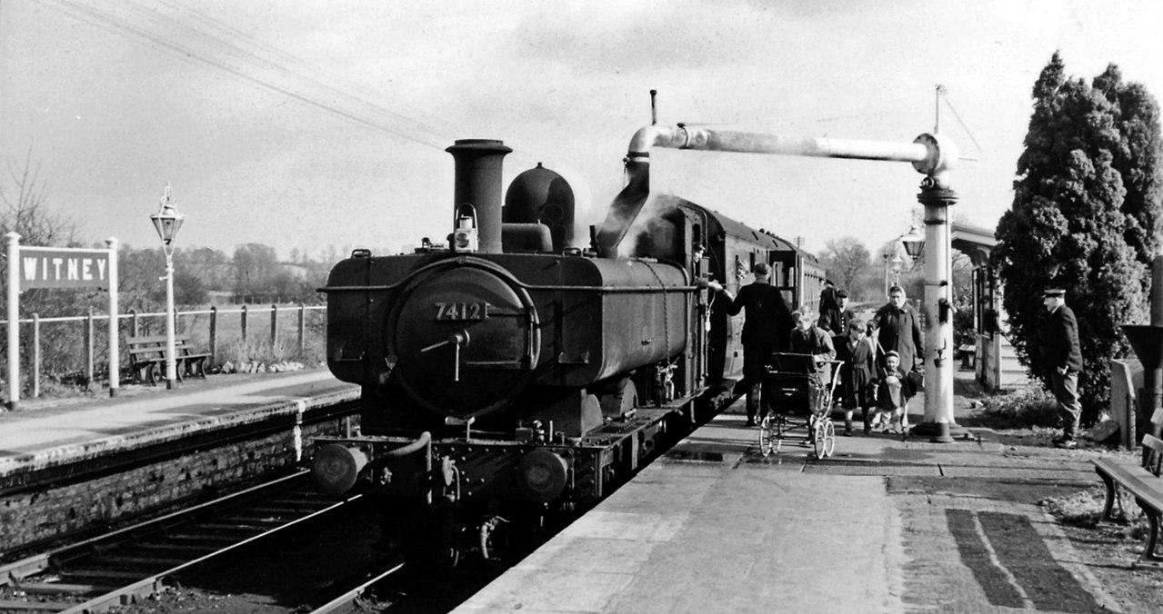 filewitney station   oxford fairford train geograph   ben brooksbankjpg