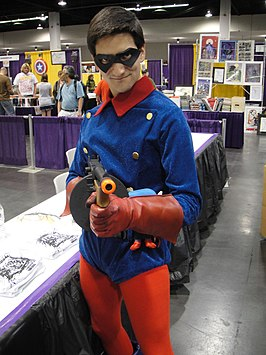 Cosplayer Bucky Barnes tijdens Wizard World Anaheim 2011.