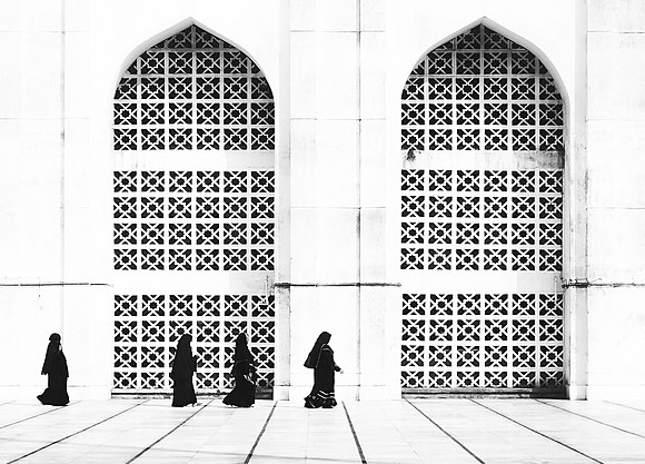 Women in search of their praying place at Baitul Mukarram National Mosque.jpg