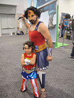 File:WonderCon 2012 - Wonder Woman as a girl and a man (7019314303).jpg