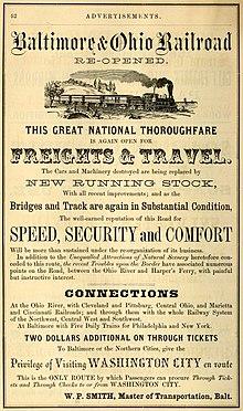 Baltimore And Ohio Railroad Wikipedia - Us railroad map 2016 ohio
