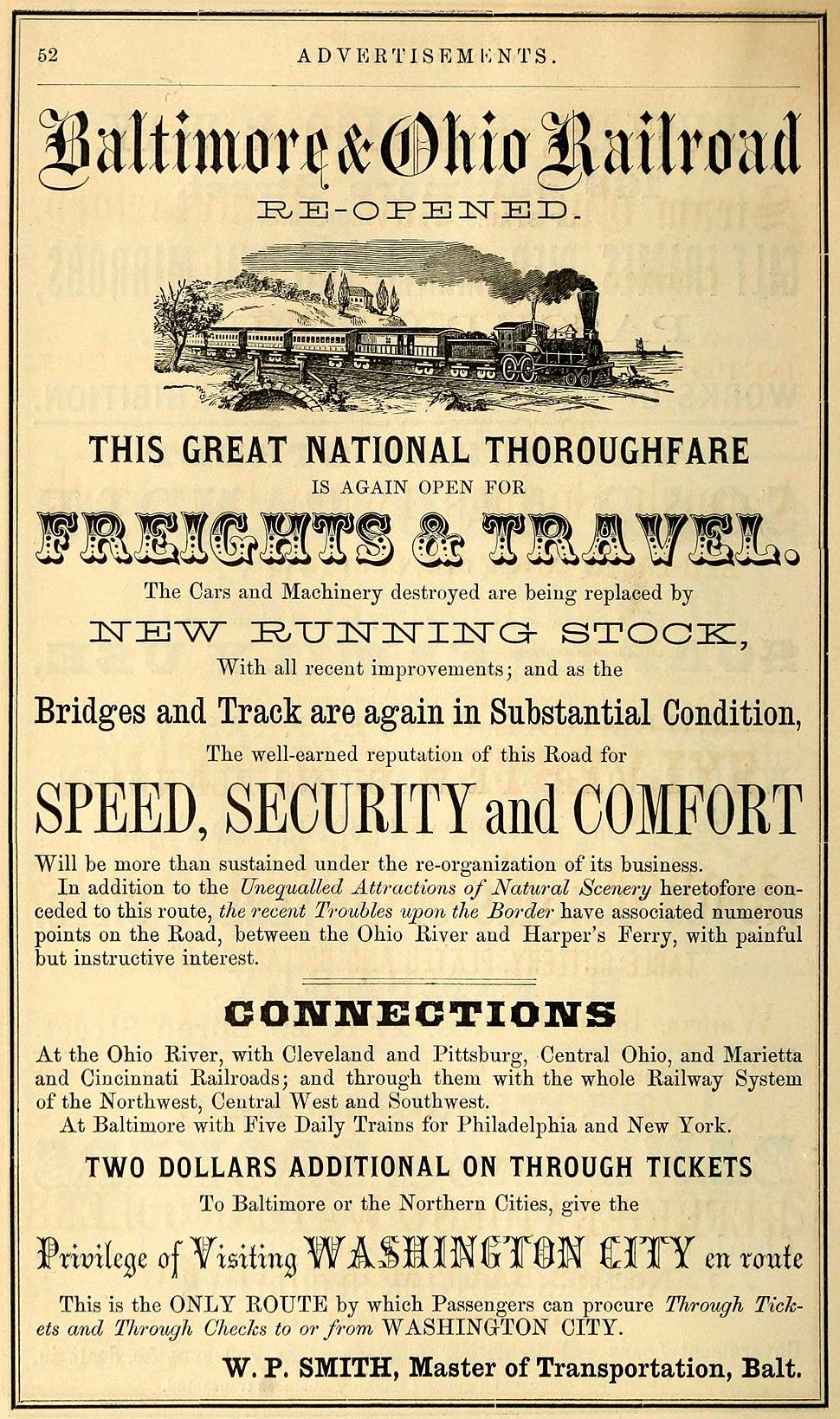 Woods%27 Baltimore City Directory - 1864 - Baltimore and Ohio Railroad.jpg