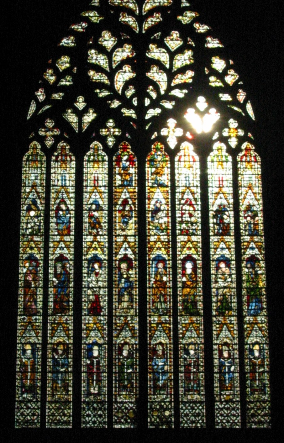 Architecture of the medieval cathedrals of england for West window york minster