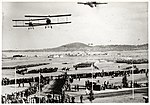York Park, Canberra, during Royal Visit with aeroplanes overhead, 1927.jpg