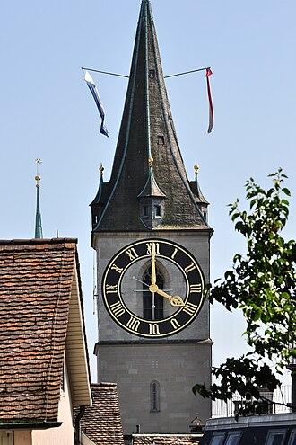 St. Peter, Zürich - Image: Zürich Lindenhof St. Peter IMG 2031