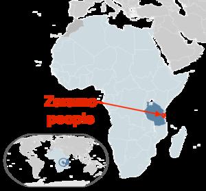 Zaramo people - Zaramo people distribution (approx).