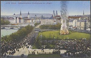 Sechseläuten - Burning the Böögg around 1900