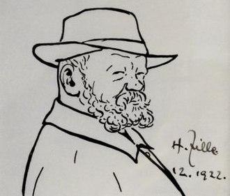 Heinrich Zille - self-portrait 1922
