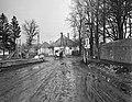 Zirc 1958, Köztársaság utca a Cuha patak hídjánál. Fortepan 79697.jpg
