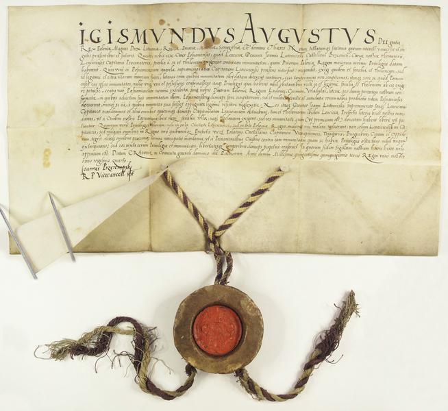 File:Zygmunt August zatwierdza przywileje celne i targowe dla miasta Poznania.png