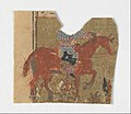"""Horseman and Fragment of Text"", Folio from a Shahnama (Book of Kings) MET DP215921.jpg"