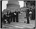 """Keep America Out of War"" petitions presented to Congress. Washington, D.C., April 27. ""Keep America Out of War"" was keynote of four million petitions presented to members of Congress at the LCCN2016873481.jpg"