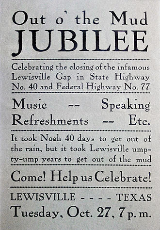 """English numerals - """"Out of the Mud"""" flyer."""