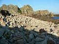 """Pillars of stone"" at Long Point - geograph.org.uk - 722446.jpg"
