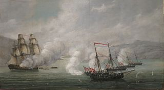 The Naval Battle at Alvøen near Bergen
