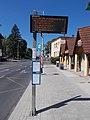 'Göcseji út' bus stop with display, 2020 Zalaegerszeg.jpg