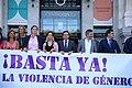 (Foto de grupo) El alcalde condena el último asesinato por violencia de género en la ciudad de Madrid 01.jpg