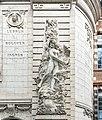 École supérieure des beaux-arts de Toulouse - Façade - allégorique de la Gravure par François Laffont.jpg
