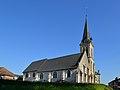 Église Saint-Germain du Breuil-en-Auge. Vue nord-ouest.jpg