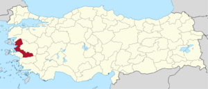 İzmir (2nd electoral district) - Image: İzmir (II) in Turkey