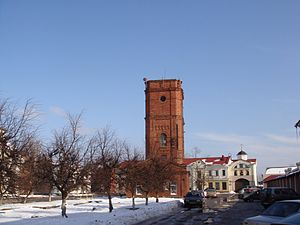 Pechory - Water tower in the center of Pechory