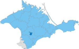 Simferopol Municipality - Image: Карта схема Крыма Симферопольский горсовет