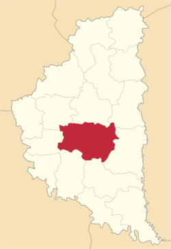 Location of Terebovļas rajons