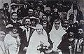ירושלים - חתונת אדוין סמואל עם יהודית גרזובסקי (גור), לידו - הנציב העליון אבא הרברט סמואל-JNF023883.jpeg