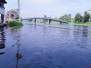 Khlong Maha Sawat Canal in Bangkok, Thailand