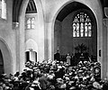 'Abdu'l-Bahá addressing a large gathering at the Plymouth Congregational Church, Chicago, Illinois, 5 May 1912.jpg